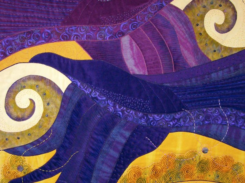 Rose Hughes Art Quilt - Riding the Thermals