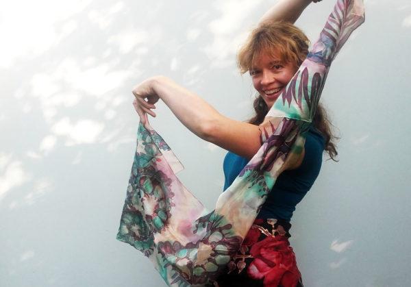 SingingScarves handpainted silk in Estonia